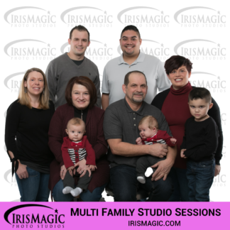 Photography Studio | Family Sessions in Studio for multi family | IrisMagic Photo Studios