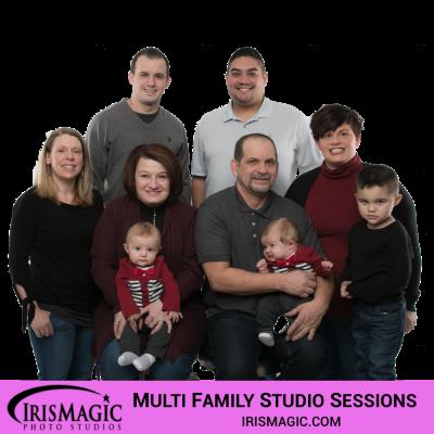 Photography Studio | Family Sessions in Studio for multi family | IrisMagic Photo Studios