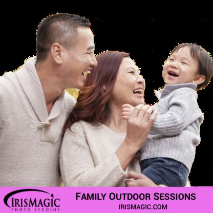 Family Photographer near me | Family outdoor sessions for one family | IrisMagic Photo Studios